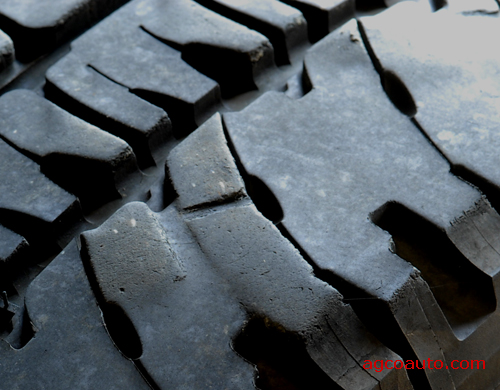 Tire tread that has chopped wear.
