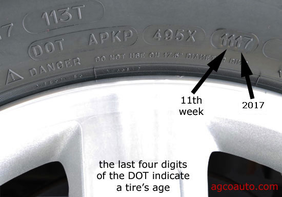 how to check the age of a tire