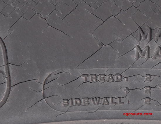 cracking in the sidewall and tread may be signs of an old tire