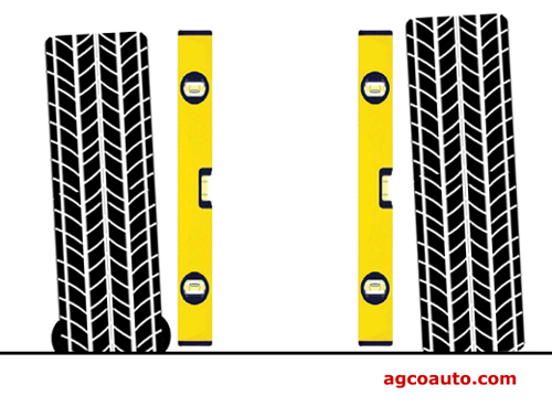 A low tire will cause a lean and change wheel alignment