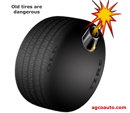 Old tires are no laughing matter.  They are dangerous!