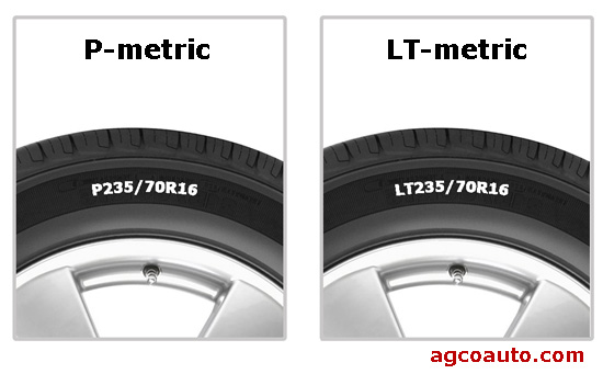 P-metric and LT tires require different inflation methods