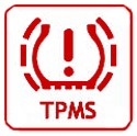 Tire pressure monitoring system (TPMS) warning light