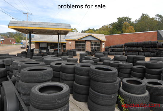 many used tires may be outdated or defective
