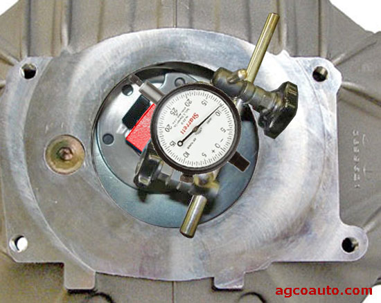 Checking a bell housing for run out with a dial indicator