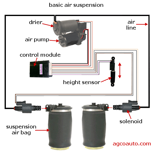 Basic Ford air suspension diagram