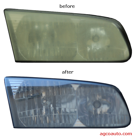 You can easily clean dull yellow headlamps