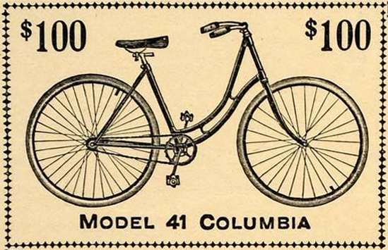 The Columbia bicycle was priced around $100 in the 1890s