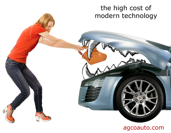 maintaining new automotive technology can be very expensive