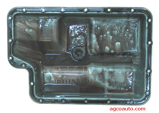 An example of too much metal in an automatic transmission pan