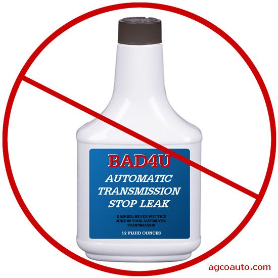 Automatic transmission stop leak is not a good idea