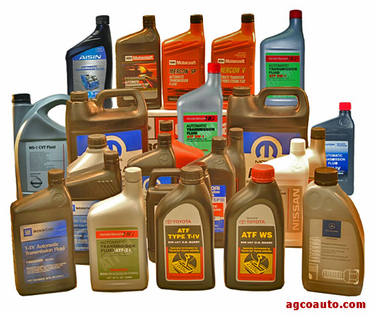 Just a few automatic transmission fluids in current use