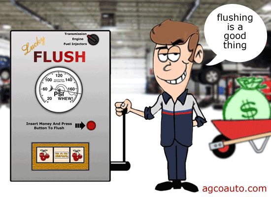 Flushes are only good for the shop's bottom-line