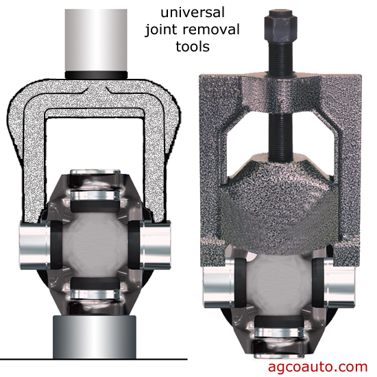 special tools make universal joint removal damage free