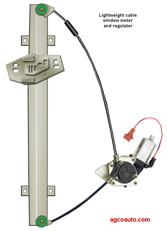 Modern power window regulators are very lightweight