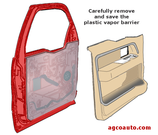 The plastic vapor barrier needs to be replaced