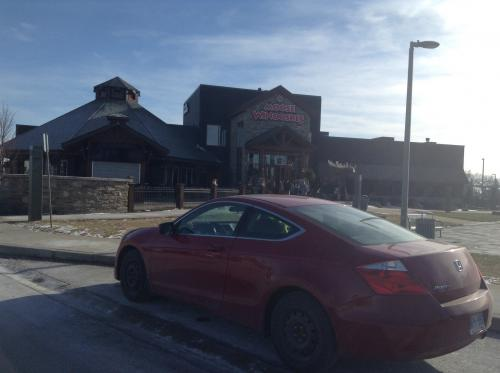 Christie's 08 Accord at Moose-note the black winter boots on the car