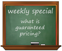 What guaranteed pricing means to you