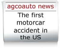 Read about the first recorded pedestrian/motorcar accident in the US
