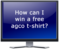 How can I win a free agco t-shirt?